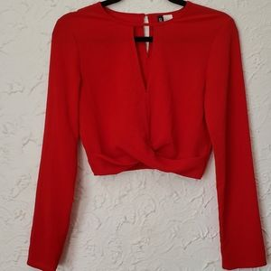 4/$25 H&M Red long sleeve Blouse